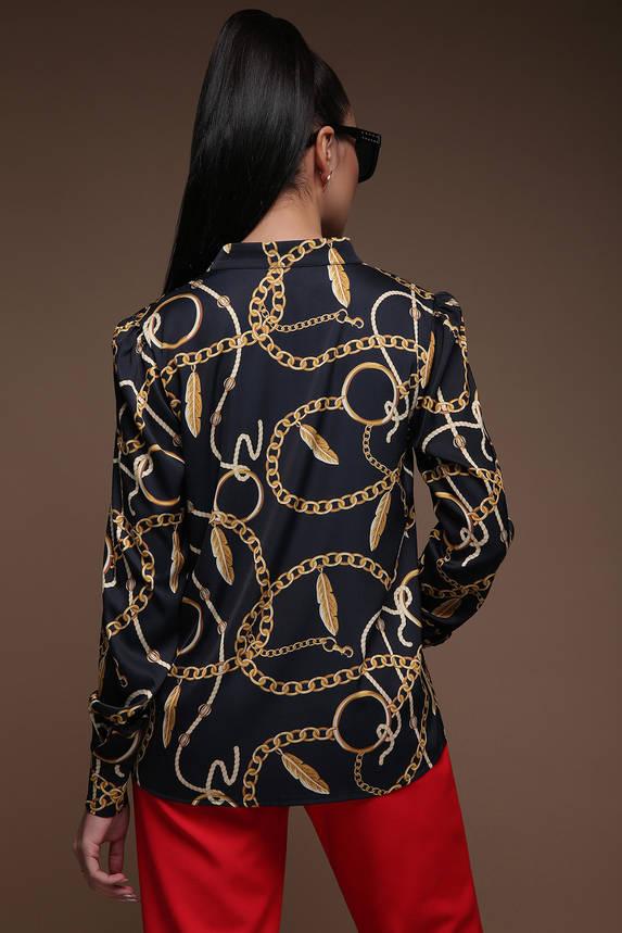 """Красивая женская блуза с принтом """"Цепи"""", фото 2"""
