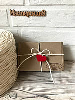 Бумажный шпагат ( шнур, жгут)  для декора и упаковки, цвет - белый