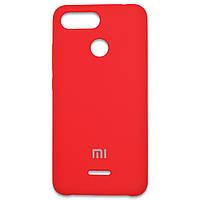 Накладка Silicone Cover для Xiaomi Redmi 6 Red