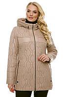 """Женская стёганая куртка. """"Бежевый"""", фото 1"""