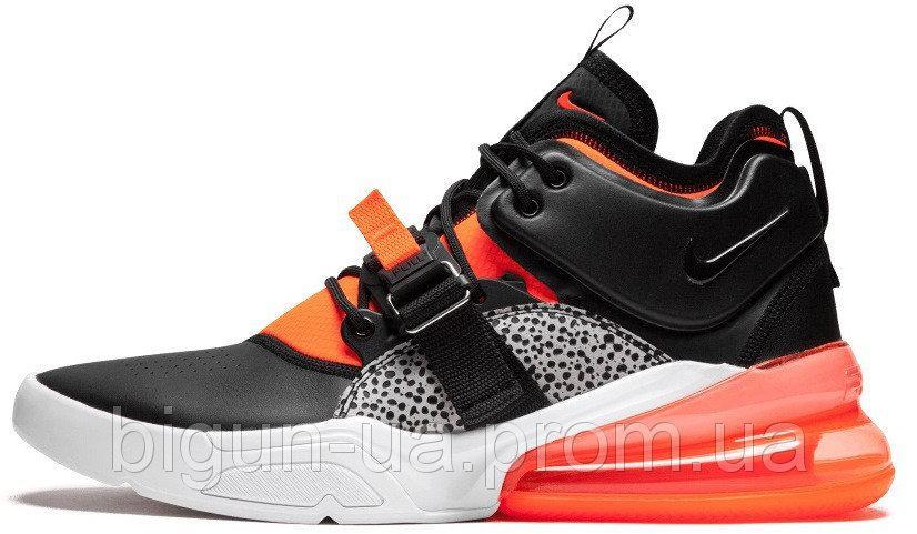 f90d7551 Мужские кроссовки Nike Air Force 270 Safari (найк аир форс 270,  черные/оранжевые