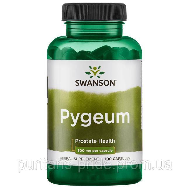 Поддержка здоровье простаты, Пигеум Экстракт,  Pygeum, Swanson, 500 мг, 100 капсул
