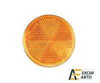 Світловідбивач жовтий круглий (d=60) самоклеючий