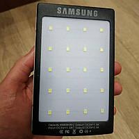 Power Bank Samsung 40000 mAh с солнечной батареей и фонарик 20SMD повер банк внешний аккумулятор Самсунг