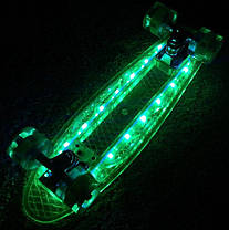 """Светиться весь Zippy Board LED 22"""" - Фиолетовый 54 см пенни борд (ZLED17), фото 3"""