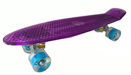 """Светиться весь Zippy Board LED 22"""" - Фиолетовый 54 см пенни борд (ZLED17), фото 2"""