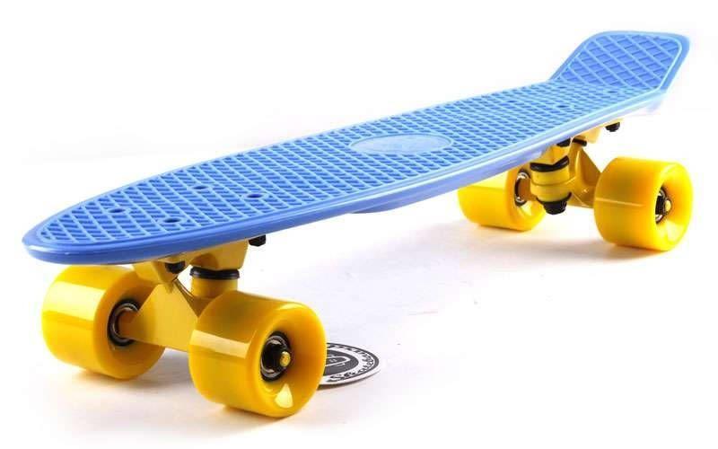 Скейт Пенни борд Penny Board Пенні Fish Skateboards 22.5 Blue - Синий 57 см