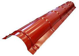 Конек круглый малый SSAB 2000 мм Purex 750 кирпичный