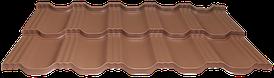 Модульная черепица EGERIA SSAB 35/350 Purex 750 кирпичный