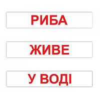 """Карточки большие украинские с фактами """"Читання за Доманом"""", 120 слов методика Глена Домана"""