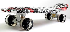 Скейт Пенни борд Penny Board Пенні Zippy Board Nickel Print 27 - Street LED 68 см, фото 2