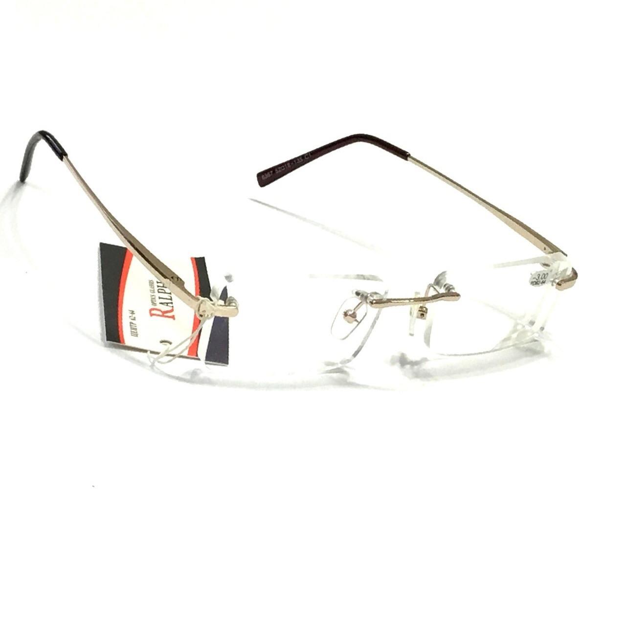 Безоправные очки с бликовой  линзой