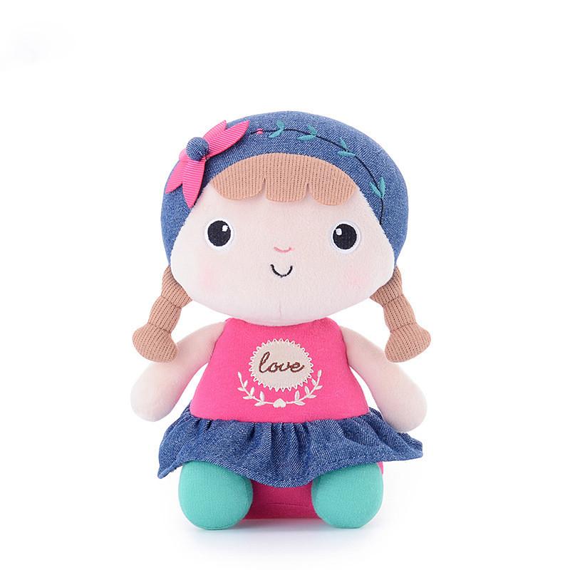 Мягкая игрушка Кукла с косичками, 22 см
