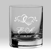 """Стакан для виски с именной гравировкой """"Свадьба, годовщина свадьбы"""""""