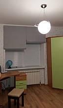 Римская штора Серая, 0,92м+0,92м