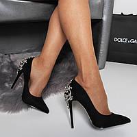 Женские туфли лодочки черные 105 см, фото 1
