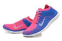 Кроссовки для бега Nike Free 4.0 (Blue/Pink/White)