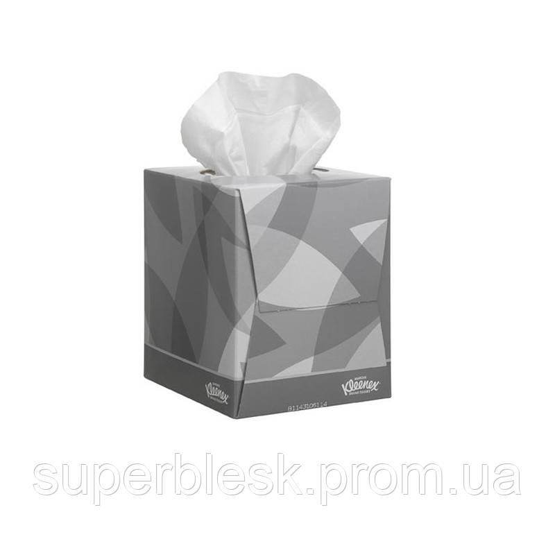 Салфетки Kleenex для лица стандартные в кубе 90шт