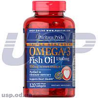 Puritan's Pride Triple Strength Omega-3 Fish Oil 1360 mg омега 3 омега-3 жирные кислоты