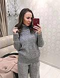 Женский вязаный костюм: свитер и штаны (4 цвета), фото 7