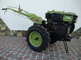Мотоблок Zubr JR-Q79 с почвофрезой в комплекте, 10 л.с, ременной привод, водяное холаждение зубр