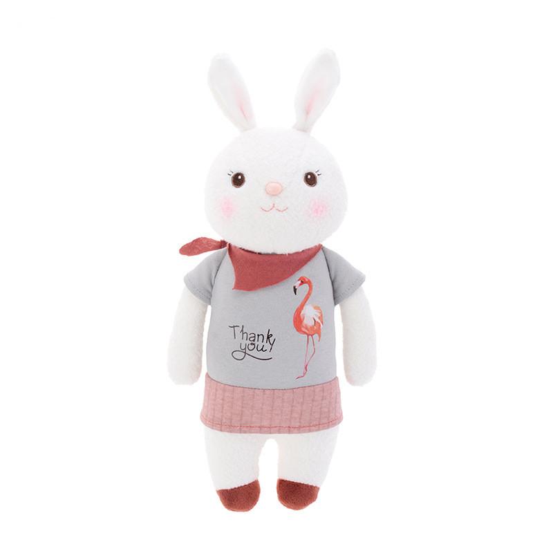 Мягкая велюровая игрушка Зайчик в футболке, 34 см