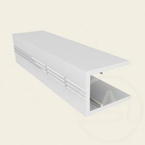 Алюминиевый торцевой профиль АПТ - 20мм ТМ SOLIDPROF (бронзовый, анодированный)