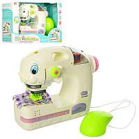 Детская Швейная машинка, шьет, педаль управления, свет, на батарейках,6973