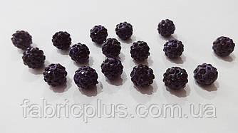 Бусины пластик 10 мм темно-фиолетовые