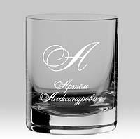 Именной стакан для виски с вензелями