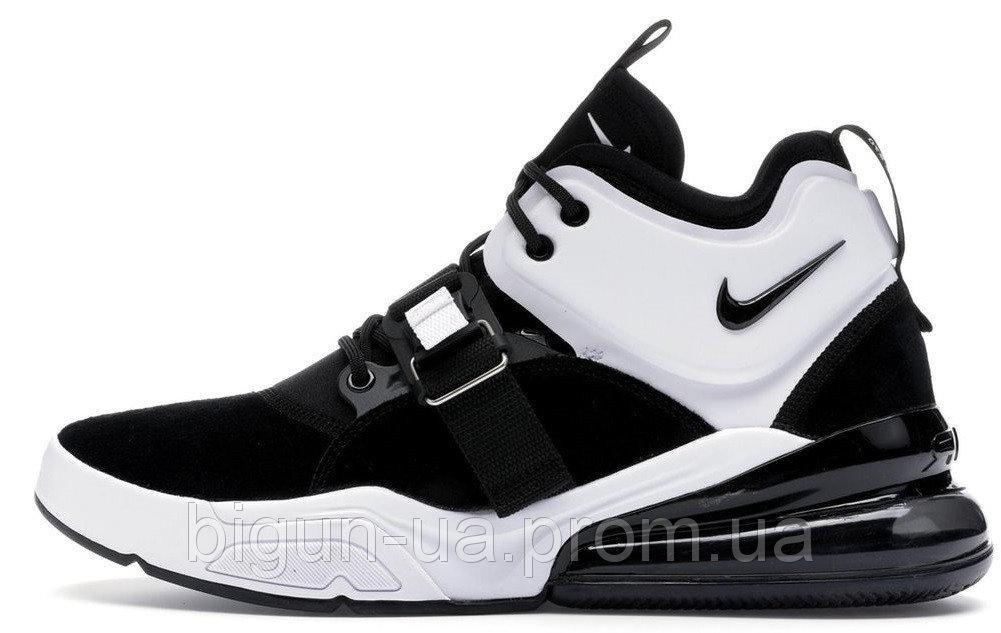 33298fdc Мужские кроссовки Nike Air Force 270 Black White Silver (найк аир форс 270,  черные