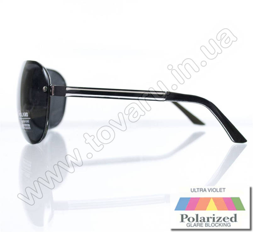 Очки унисекс солнцезащитные поляризационные - Черные - P09001, фото 2
