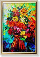 Репродукция  современной картины «Утренние цветы» 60 х 90 см