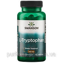 Л-Триптофан, Swanson L-Tryptophan, 500 мг 60 капсул