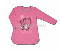 Ночная сорочка для девочки от 6 до 9 лет с начесом с котом