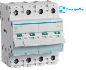 Выключатель нагрузки 4 полюса 100А 400V 4м SBN490 Hager ( хагер )
