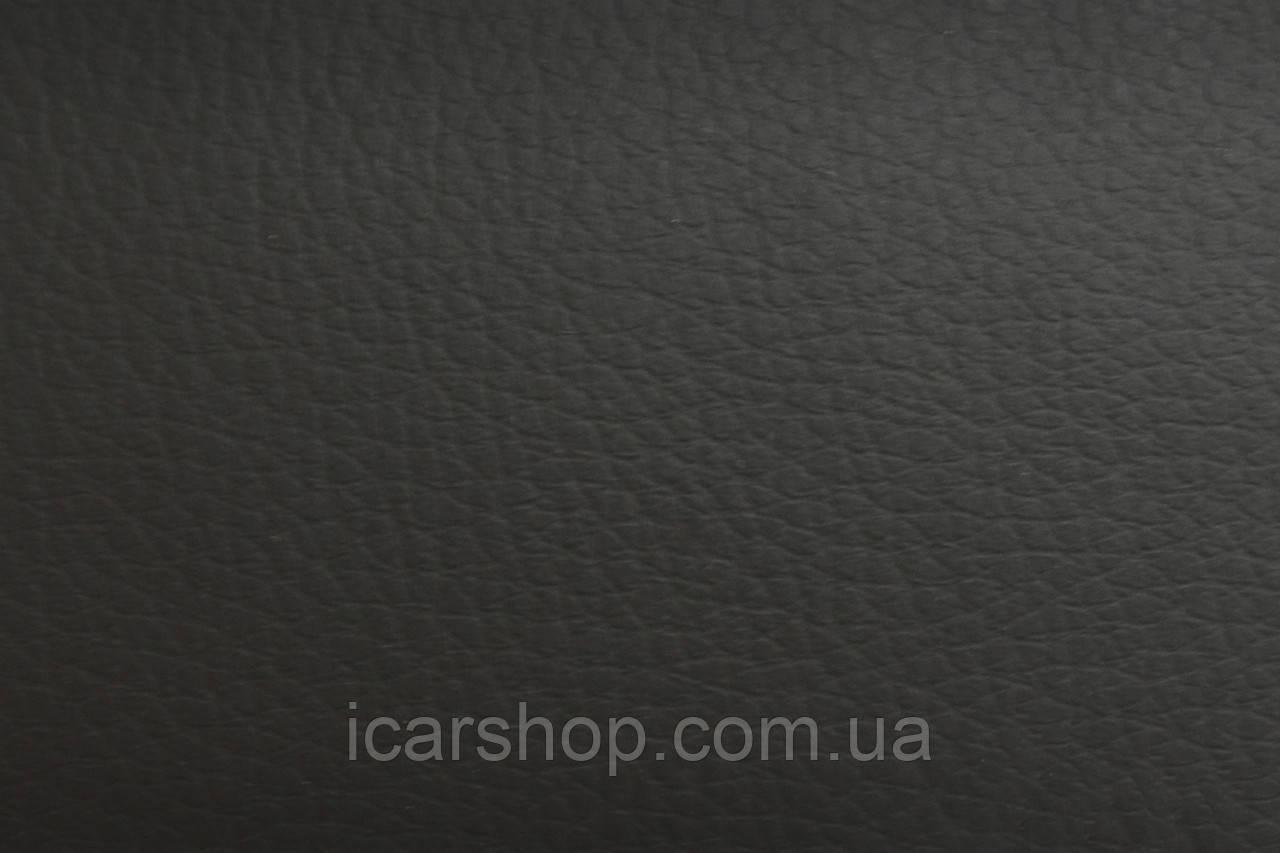 Кожзаменитель черный на основе 4 мм поролон и войлок ( 1,45 м)