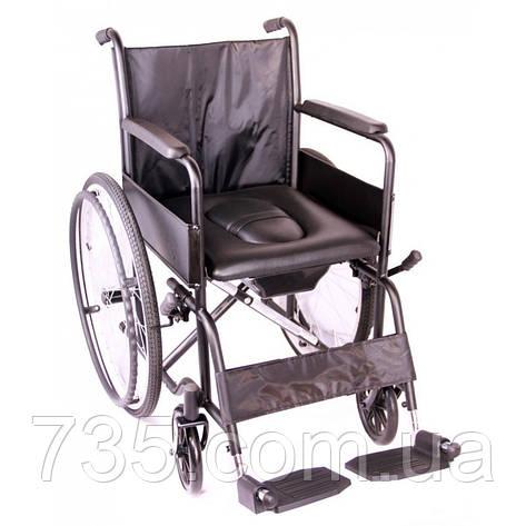 """Коляска инвалидная с санитарным оснащением """"Economy"""" OSD-ECO1-46+ WC (Италия), фото 2"""