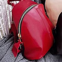 Женский кожаный красный рюкзак   АРТ. 0234, фото 1