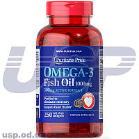 Puritan's Pride  Omega-3 Fish Oil 1000 mg (300 mg Active Omega-3) омега-3 жирные кислоты омега 3