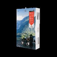Колонка газовая дымоходная Aquatronic JSD20-AG208 (10 л. стекло,горы)