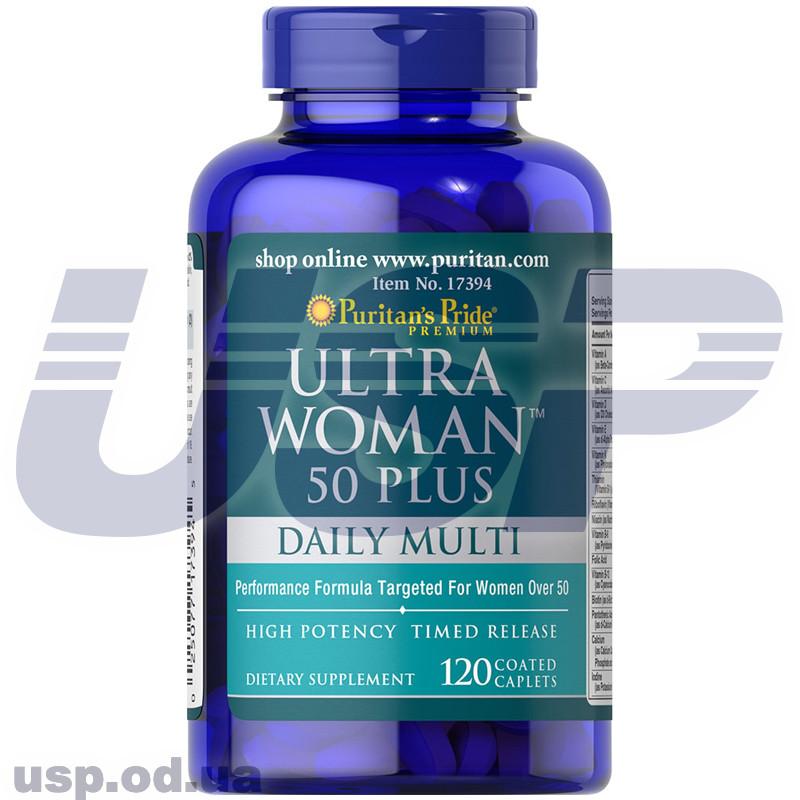 Puritan's Pride Ultra Woman 50 Plus Multi-Vitamin (витамины для женщин 50+)