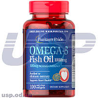 Puritan's Pride  Omega-3 Fish Oil 1000 mg (300 mg Active Omega-3) омега-3 жирные кислоты омега 3
