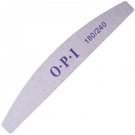 Пилка для ногтей OPI 180/240, лодка, серая pro, фото 2