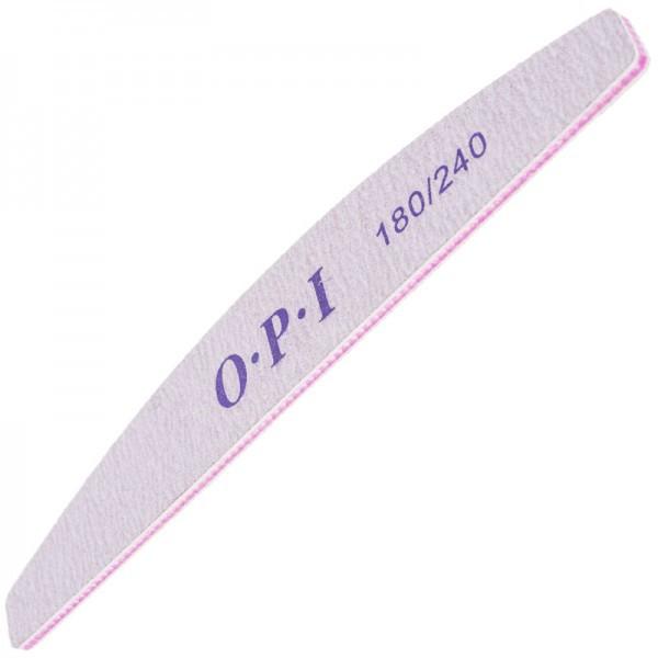 Пилка для ногтей OPI 180/240, лодка, серая pro