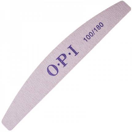 Пилка для ногтей OPI 100/180, лодка, серая pro, фото 2