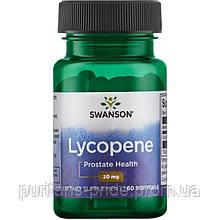 Лікопін, здоров'я простати, зору,Swanson Lycopene 20мг 60 капс