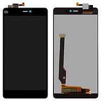 Дисплей для Xiaomi Mi4c (Mi 4c), модуль в сборе (экран и сенсор), черный, оригинал