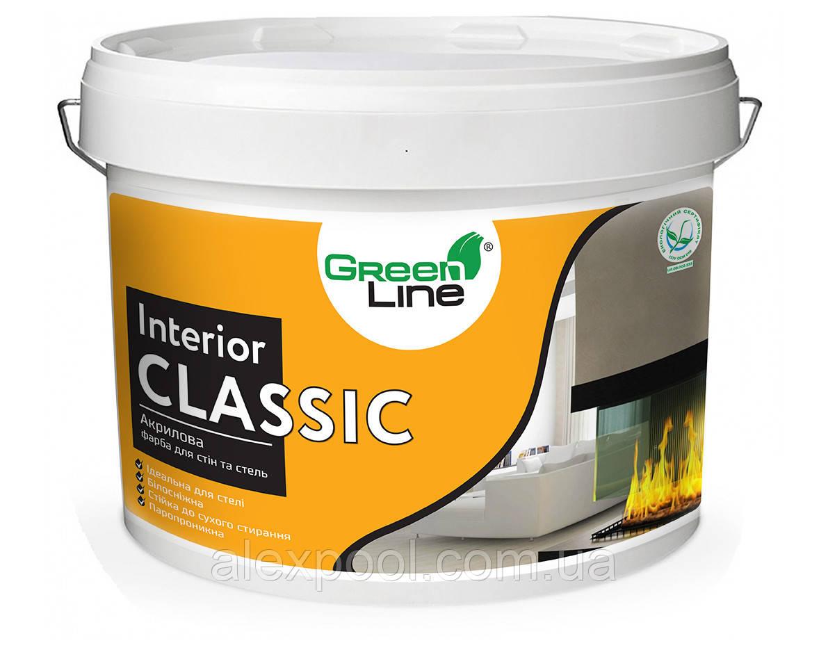 Интерьерная акриловая краска ТМ Green Line INTERIOR CLASSIC 1 л