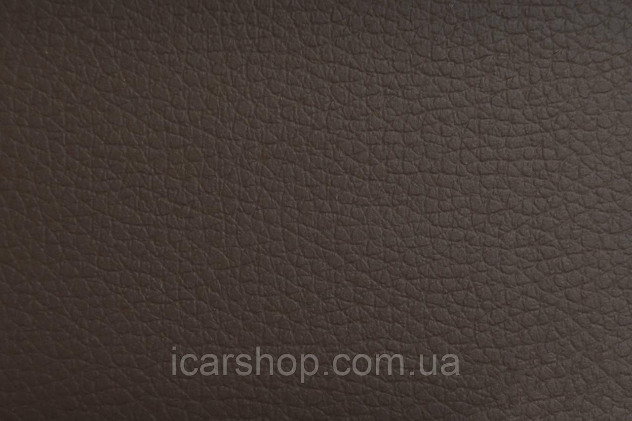 Кожзаменитель тёмно-коричневый на поролоне + войлок  7 мм ( 1,45 м)
